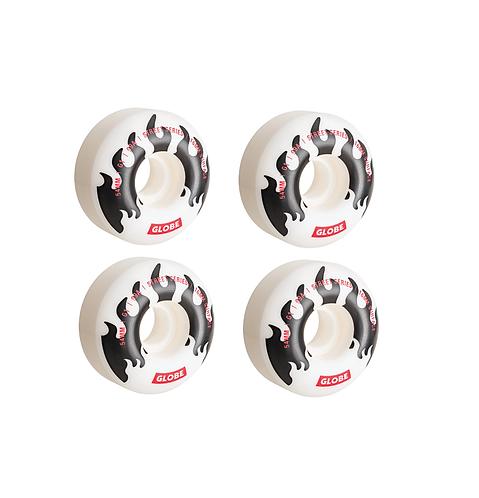 Globe G1 54mm Skateboard Wheels (White)