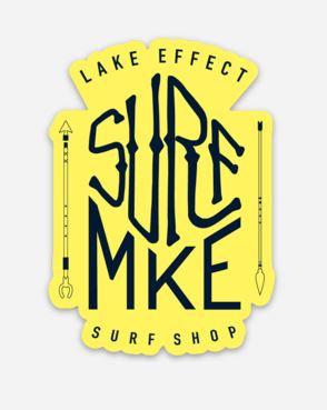 Surf MKE Arrows Sticker (Yellow/Black)