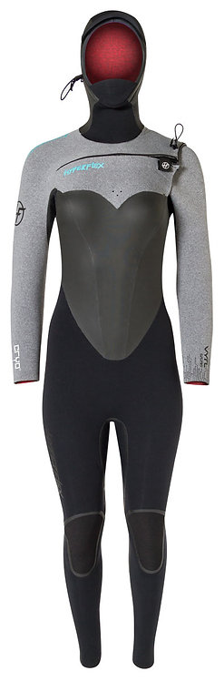 Hyperflex Womens 6/5mm Vyrl Cryo Hooded Frontzip Wetsuit