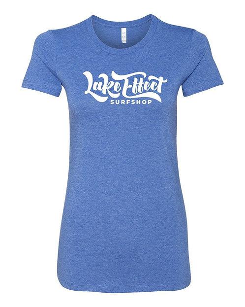 Lake Effect Ladies T-Shirt (Blue)