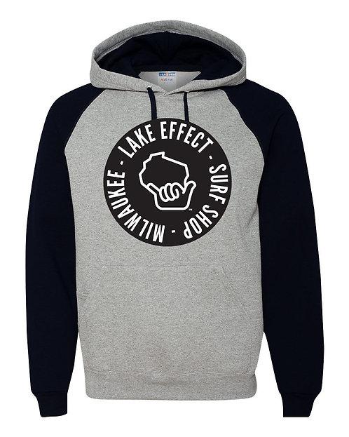 Lake Effect Circle Hand Hooded Sweatshirt (Grey/Black)