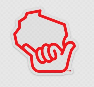 Wiloha Icon Sticker (Red/Clear)
