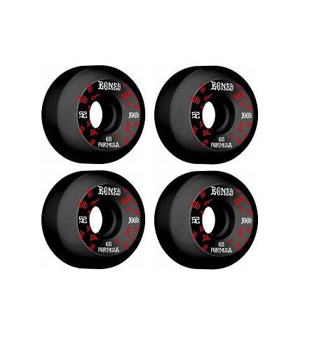 Bones 100's 52mm V5 Skateboard Wheels (Black)