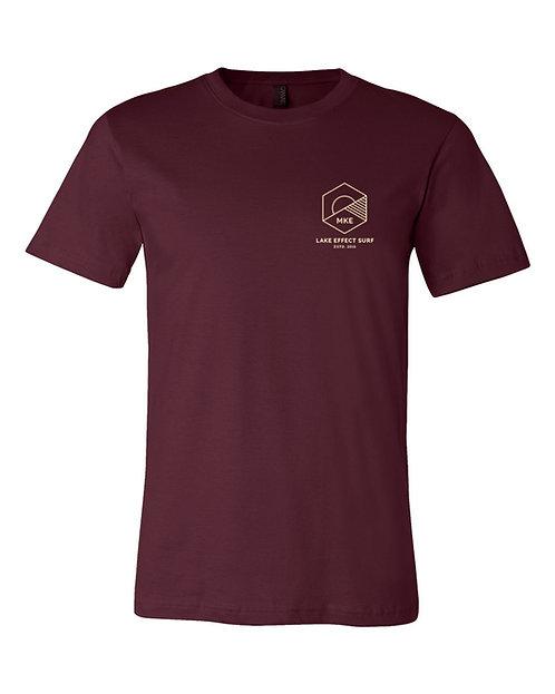 Lake Effect Horizon Unisex T-Shirt (Maroon)