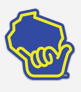Wiloha Icon Sticker (Blue/Yellow)