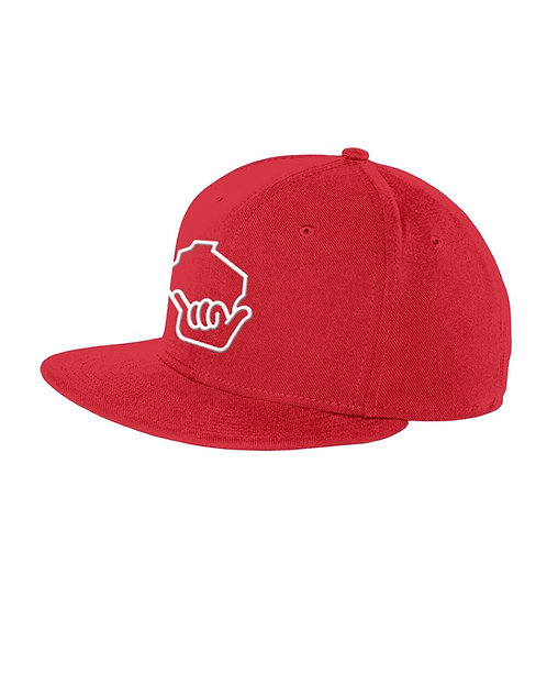 Wiloha Icon Adjustable Hat (Red/White)
