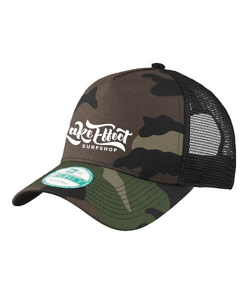 Lake Effect Logo Trucker Hat (Camo/White)