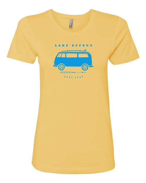 Lake Effect Ladies Van Logo T-Shirt (Yellow)