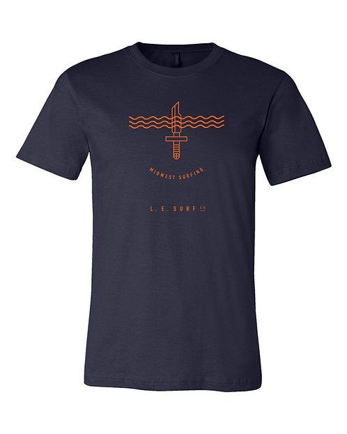 Wave Knife Unisex T-Shirt (Navy)