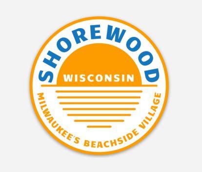 Shorewood Circle Sun Sticker