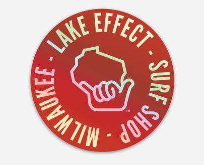 Lake Effect Wiloha Icon Circle Sticker