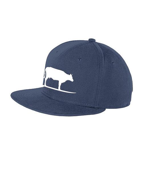 Surfing Cow Adjustable Hat (Navy)
