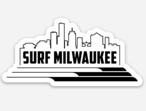 Surf Milwaukee Skyline Sticker (White/Black)