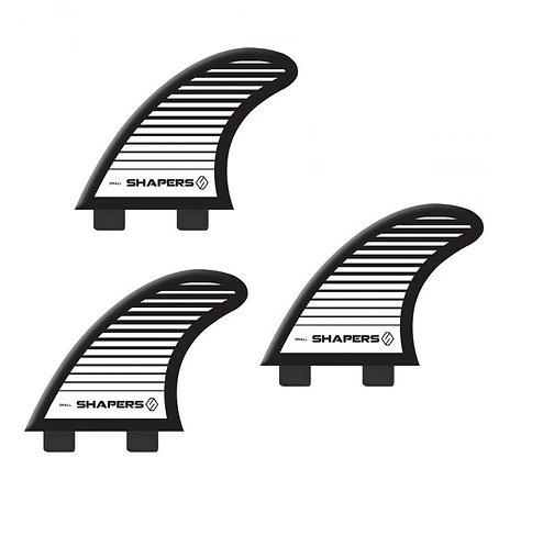 Shapers S3 Fiberflex Twin Tab 3-Fin Set