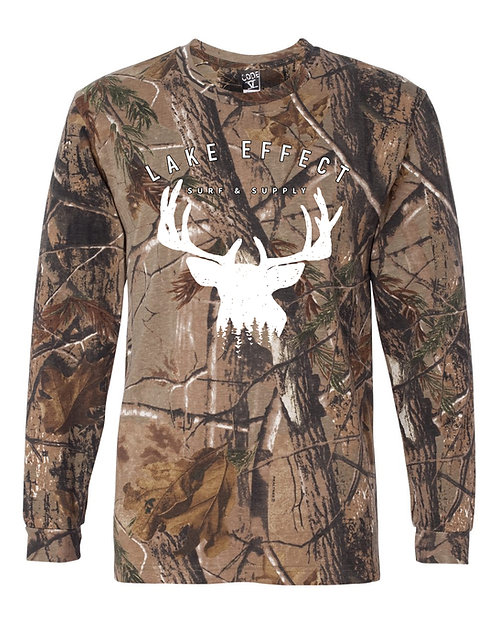 Lake Effect Woods Unisex Longsleeve T-Shirt (Camo)