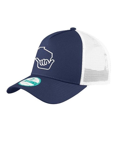 Wiloha Icon Trucker Hat (Navy/White)
