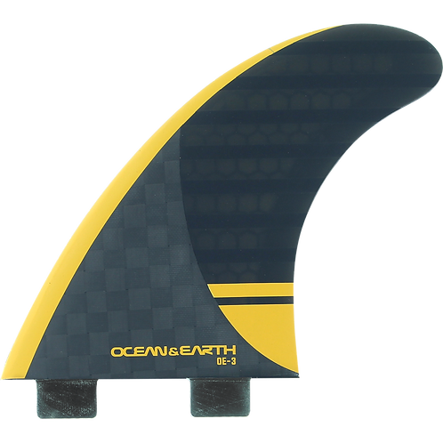O&E OE-3 Speed Thruster Twin Tab Fin Set (Large)