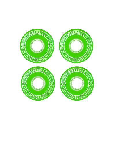 Sector 9 Nine Ball 61mm Wheels (Green)