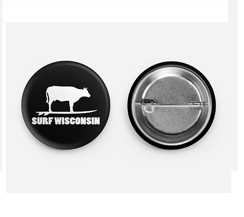 """Surf Wisconsin Cow Button 1.5"""""""
