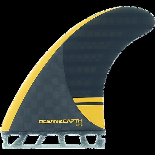 O&E OE-3 Speed Thruster Single Tab Fin Set (Large)