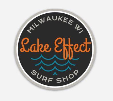 Lake Effect Cursive Wave Sticker