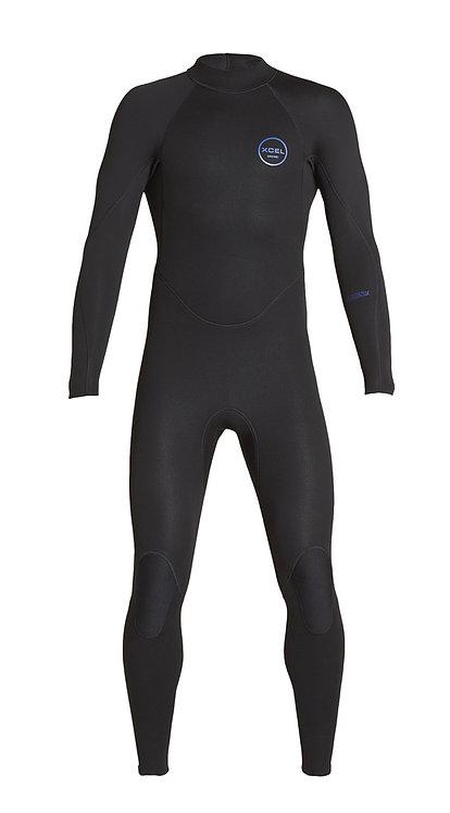 Xcel Mens Axis Flatlock Back Zip Wetsuit 3mm