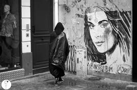 opening today street happening Konny Steding  ph gabriel otero © Paris 2016 www.moretti-moretti.com