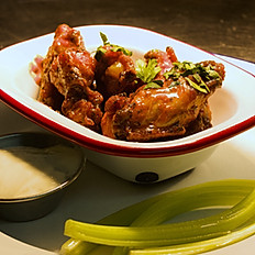 Buffalo Wings served with Blue Cheese Dip