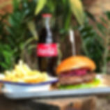 Burger, fries and drink for 9.95, lunch deal, lunch offer.
