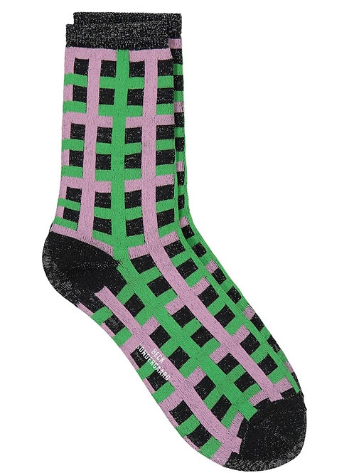 DEAN CHECK SOCKS GRASS GREEN