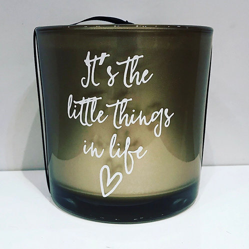 IT'S THE LITTLE THINGS IN LIFE HAND MADE CANDLE 14CM