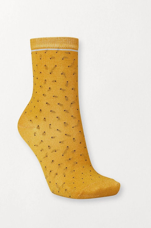 DARSI SHINY DOTS SOCKS GOLDEN YELLOW