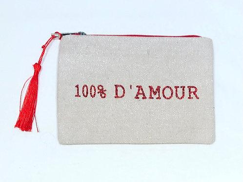 TOILET BAG 100% D'AMOUR