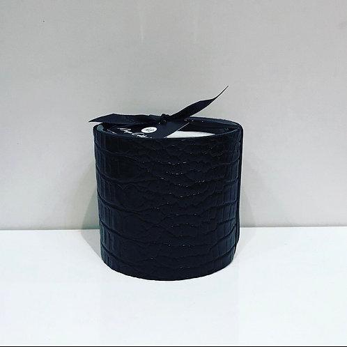 CROCO BLACK HANDMADE CANDLE 8CM