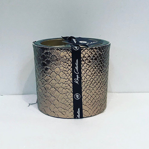 LEATHER CROCODILE COPPER HAND MADE CANDLE 8CM
