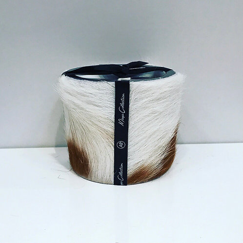 COW CAMEL / WHITE HANDMADE CANDLE 8CM
