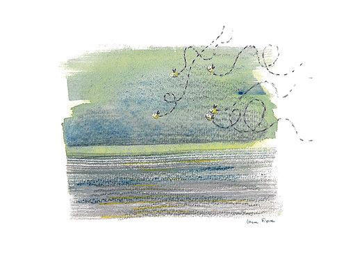 carte - abeilles et mer