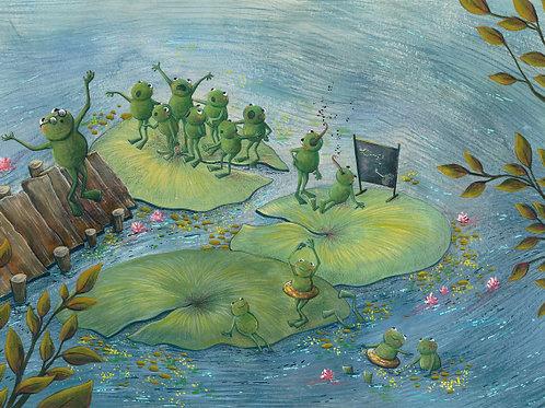 carte - les grenouilles, la leçon