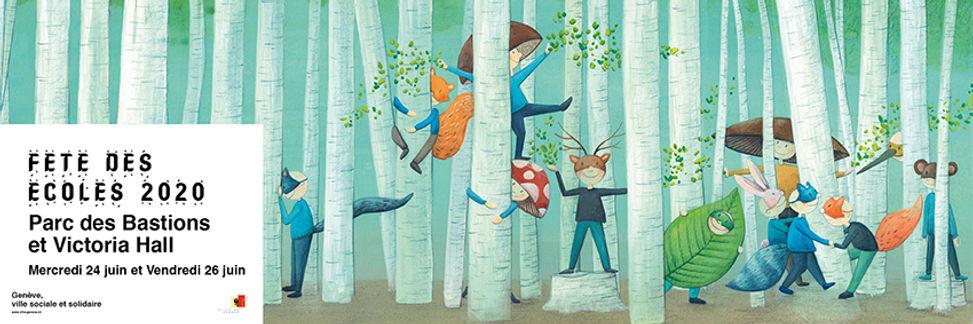 affiche fete des ecoles geneve ecovisuel lucie fiore illustration