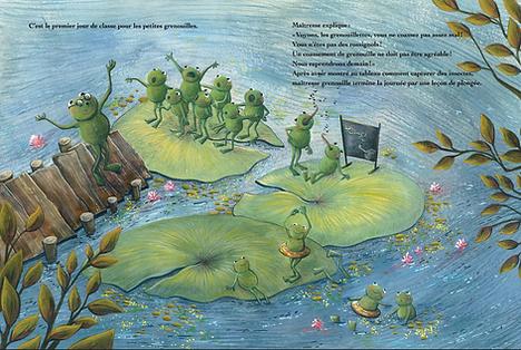 Lucie Fiore Illustration la leçon des grenouilles yanbow al kitab