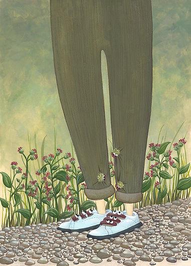 Lucie Fiore illustration biomimétisme bardane velcro