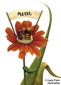 lucie fiore illustration nature abeill merci