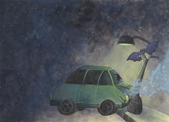 Lucie Fiore illustration biomimétisme radar chauve souris