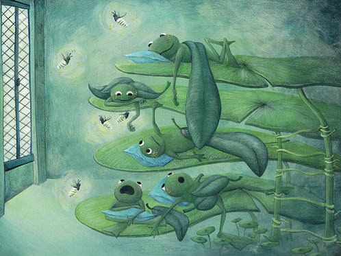 carte - les grenouilles, la chambre