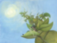 Lucie Fiore illustration biomimétisme panneaux solaires végétaux