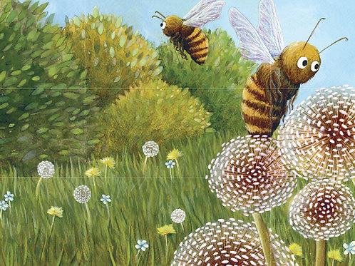 carte - abeilles et pissenlits