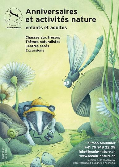flyer illustré lecoin-nature lucie fiore illustration