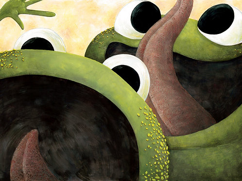 carte - les grenouilles, la grimace