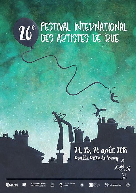 Lucie Fiore Illustration Affiche Artist de rue Vevey
