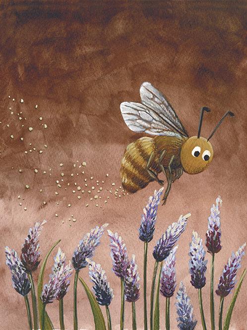 carte - abeille et lavande